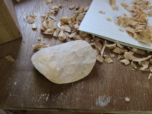 ポテチの木彫り