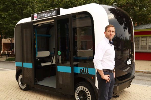 Olli 人工知能 Watson 自動運転バス