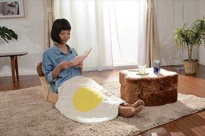 食パン座椅子&めだまやきブランケット