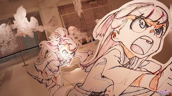 「『リトルウィッチアカデミア』とアニメミライ 〜等身大原動画でみる作画の魔術〜展」より