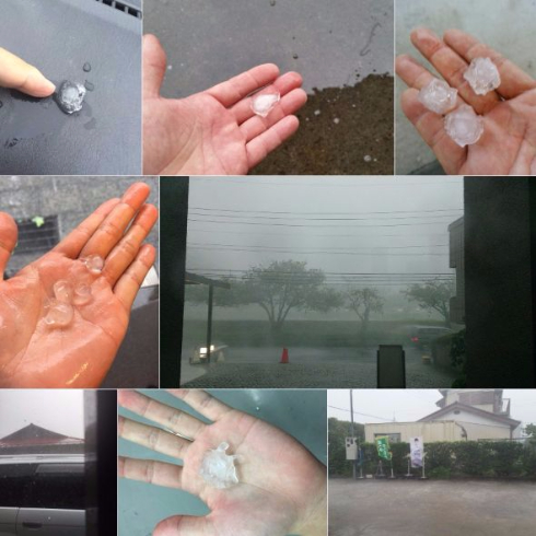 関東 豪雨 雹