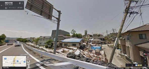 熊本地震ストリートビュー