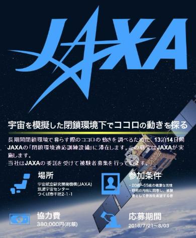 JAXA 治験 閉鎖環境 ココロ