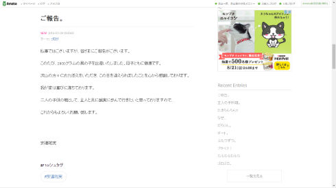 安達祐実さんのブログ
