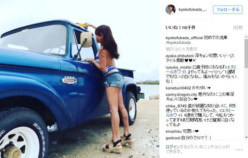 深田恭子 Instagram 洗車