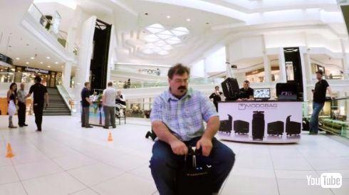 Modobag クラウドファンディング 乗れる 電動 スーツケース