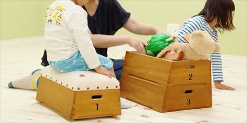 倉敷帆布 とび箱型小物入れ