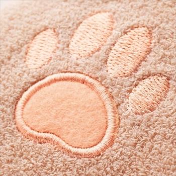 猫の胸毛タオル