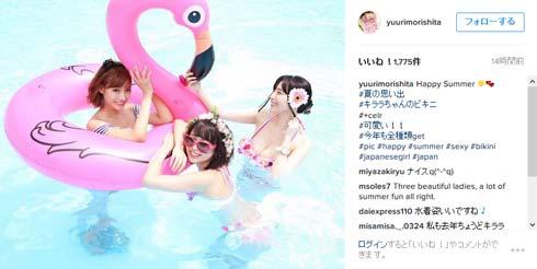 森下悠里 Instagram 野々宮ミカ 明日花キララ 浮き輪