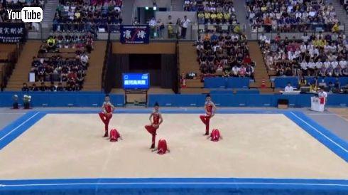 鹿児島実業男子新体操部 2016 インターハイ ライザップ とにかく明るい安村