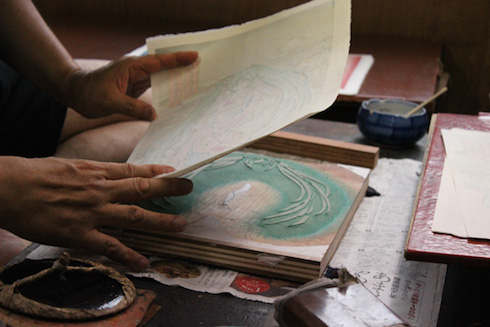 初音ミク浮世絵木版画