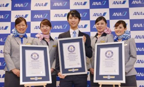 羽生結弦選手が、3つのギネス世界記録に認定