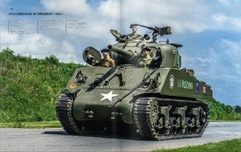 """こちらは「1944 CHRYSLER M4 SHERMAN """"105 """"」"""
