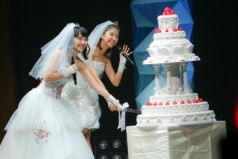 ももたまい婚 百田夏菜子 玉井詩織 ケーキ入刀