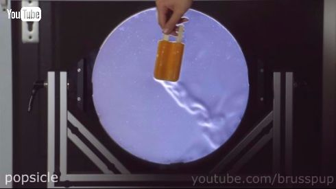 実験 動画 シュリーレン 空気