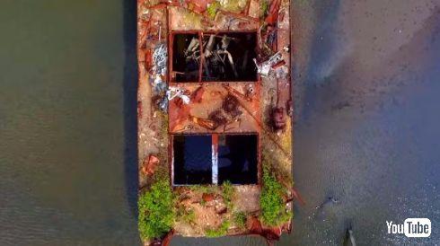 スタテン島 船の墓場 ドローン 動画