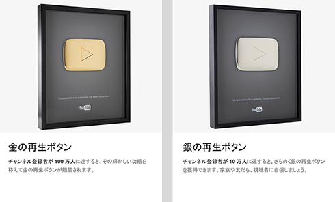 YouTubeクリエイター表彰プログラム
