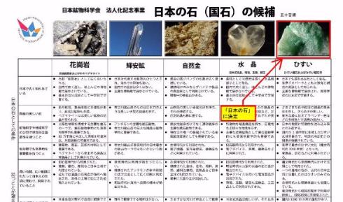 日本の石最終候補