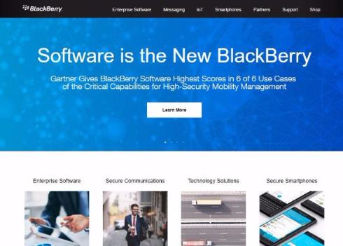 BlackBerry スマートフォン 生産 終了 ソフトウェア企業