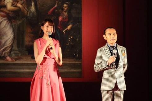 「インフェルノ」特別イベントの片岡鶴太郎さんとトリンドル玲奈さん