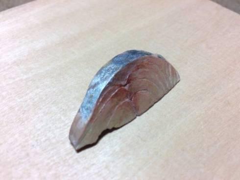 木彫り 鯵の刺身
