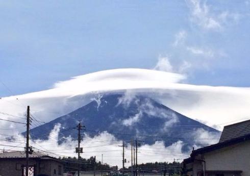 富士山 笠雲 ヤバい すごい