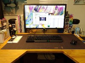 自作 液タブ デスク 机 DIY TAQRO