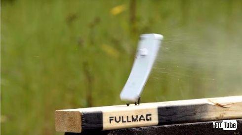 iPhone 7 ライフル 脆弱性 撃たれる 壊れる