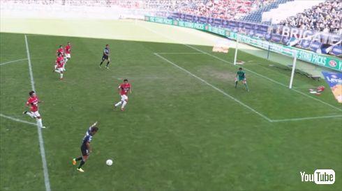サッカー自由視点映像