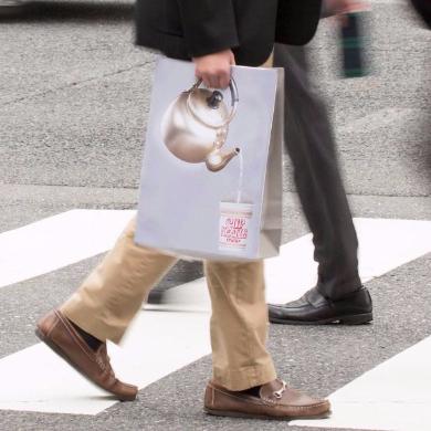 カップヌードル お湯入れとる紙袋 取っ手もいい紙袋 ネタ 紙袋 やかん