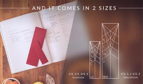 Polygons Kickstarter 計量スプーン 板 折り紙 変形 4in1