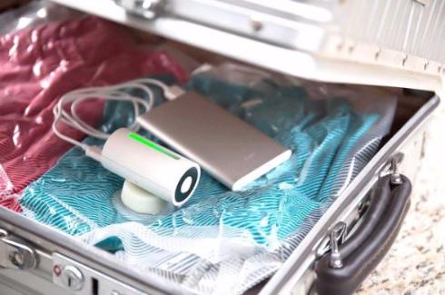 VAGO 小型 圧縮マシン 衣類 先行販売 スーツケース 旅行