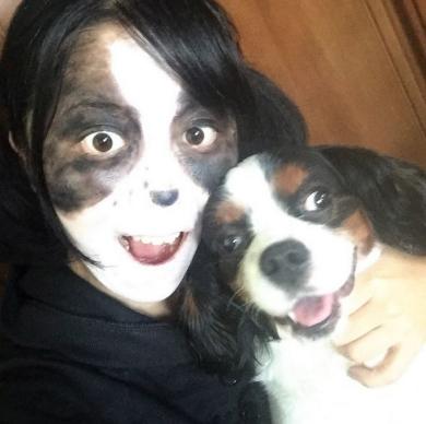 愛犬コスプレ