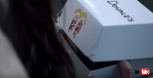 ハンバーガーの箱もマクドナルド
