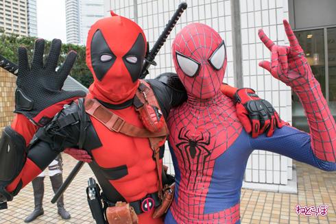 池袋ハロウィンコスプレフェス2016 デッドプール スパイダーマン アップ