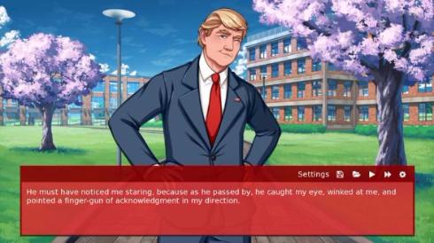 Grand Old Academy 恋愛 ゲーム 大統領候補 ドナルド 政治 Kickstarter