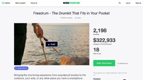 Kickstarterのプロジェクト
