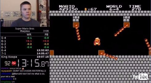 スーパーマリオブラザーズ 世界最速 クリアタイム ワープ無し 記録 darbian ファミコン