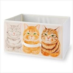 香箱座り猫の収納ボックス