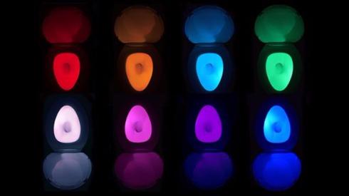 トイレ 便器 ライト IllumiBowl クラウドファンディング