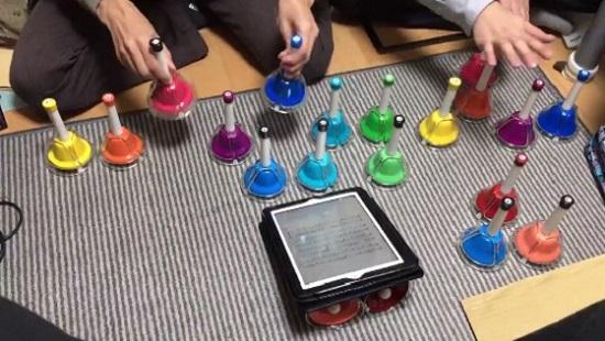 ゼンオン ミュージックベル タッチ式タイプ(カラー20音) CBR-20Tはタッチだけでなく振っても音が出ます