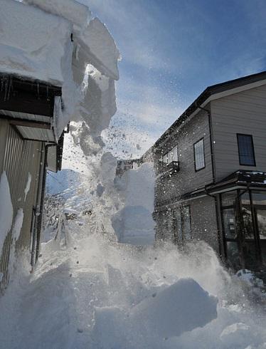 北海道 屋根 雪 天気