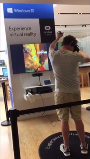 VR 崖登り 転ぶ 動画 事故