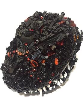 レゴで自作したシン・ゴジラのフルフェイスヘルメットがど迫力