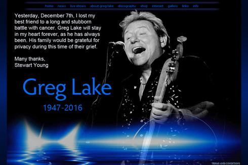 ELPのベース・ボーカリストのグレッグ・レイクが12月7日逝去