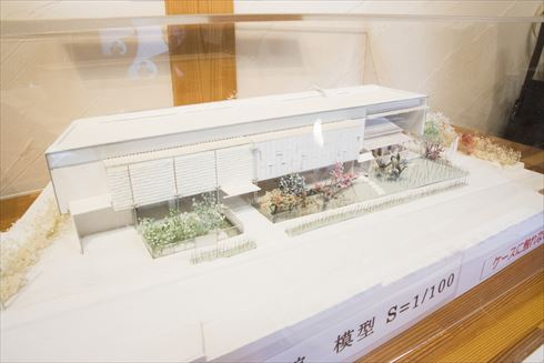 漱石山房記念館の模型