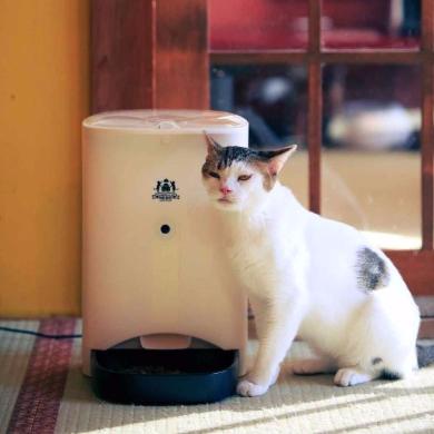 猫 自動えさやり器 ネコメシフィーダー ネコリパブリック スマホ