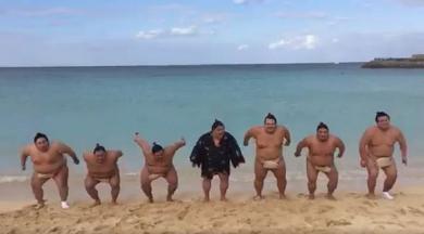 千代鳳ジャンプ動画「飛ぶよー」