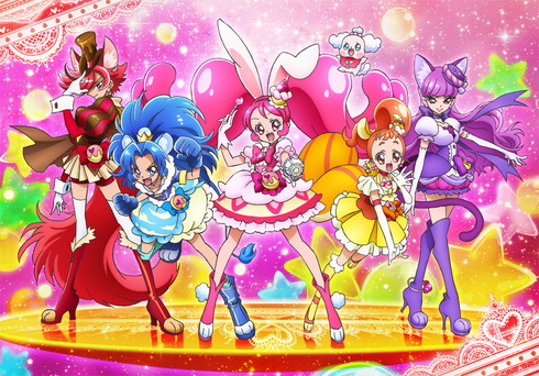 「キラキラ☆プリキュアアラモード」の新しいプリキュアたち「キュアショコラ」「キュアジェラート」「キュアホイップ」「キュアカスタード」「キュアマカロン」