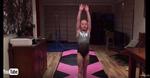 体操が得意な娘アレックスちゃん